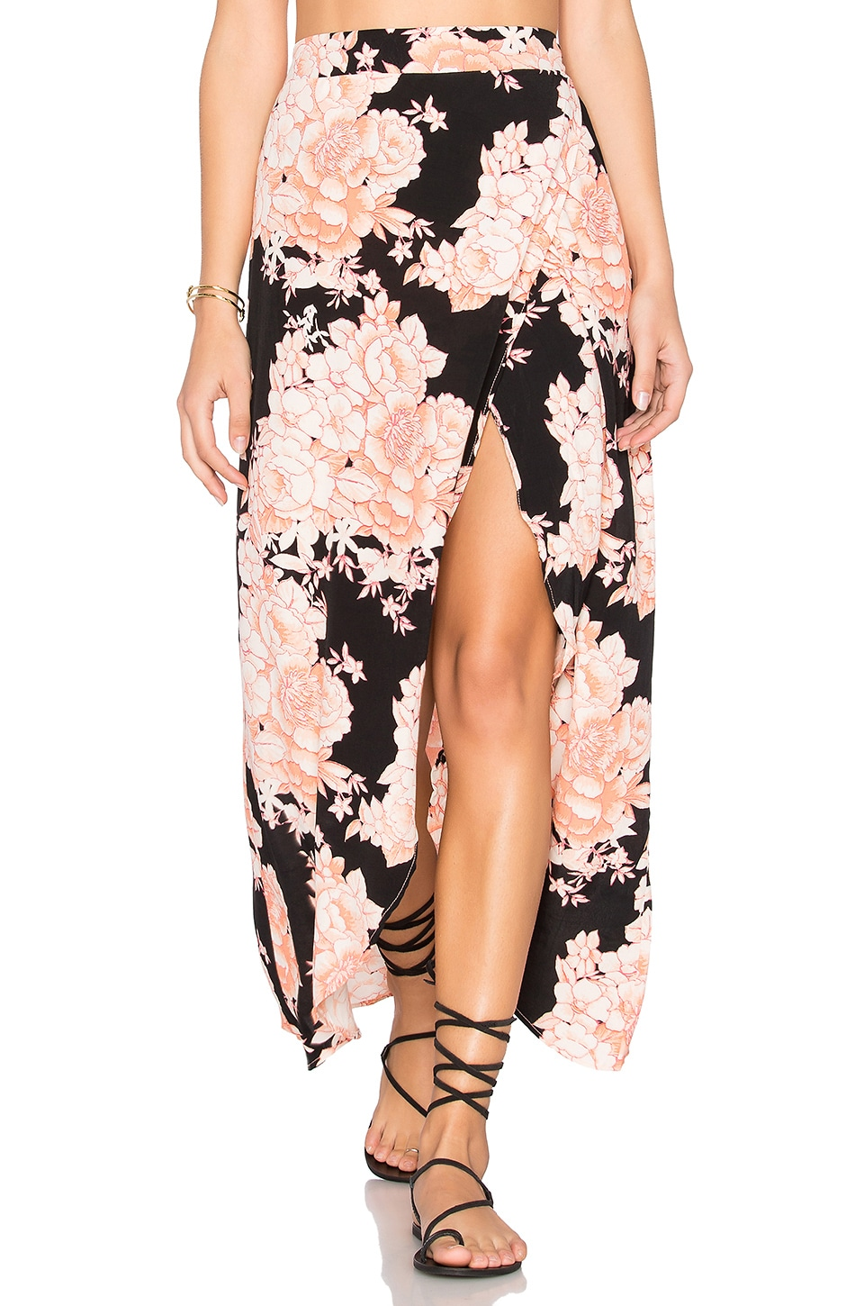 Cleobella Jack Wrap Skirt in Dusty Rose