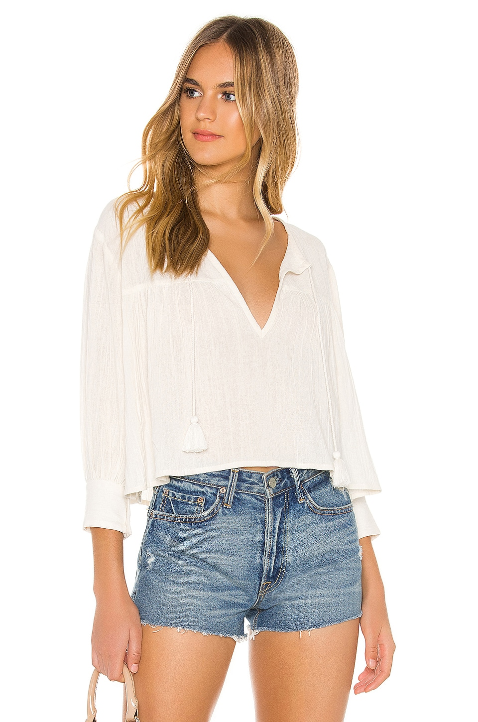 Cleobella Janey Blouse in Ivory