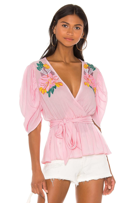 Cleobella Sienna Blouse in Pink