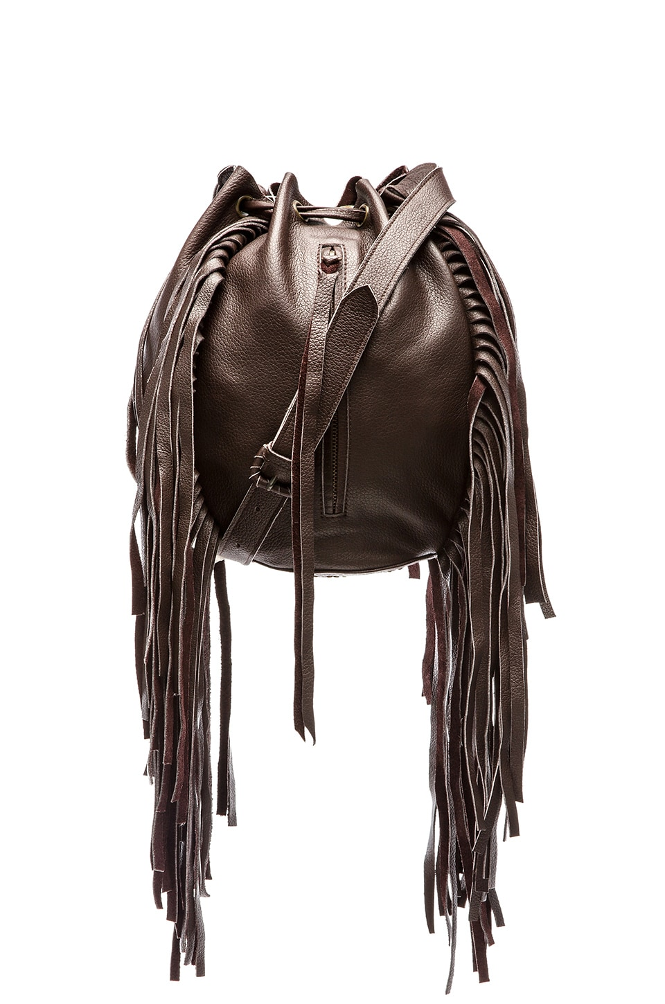 Cleobella Vanna Bucket Bag in Dark Brown