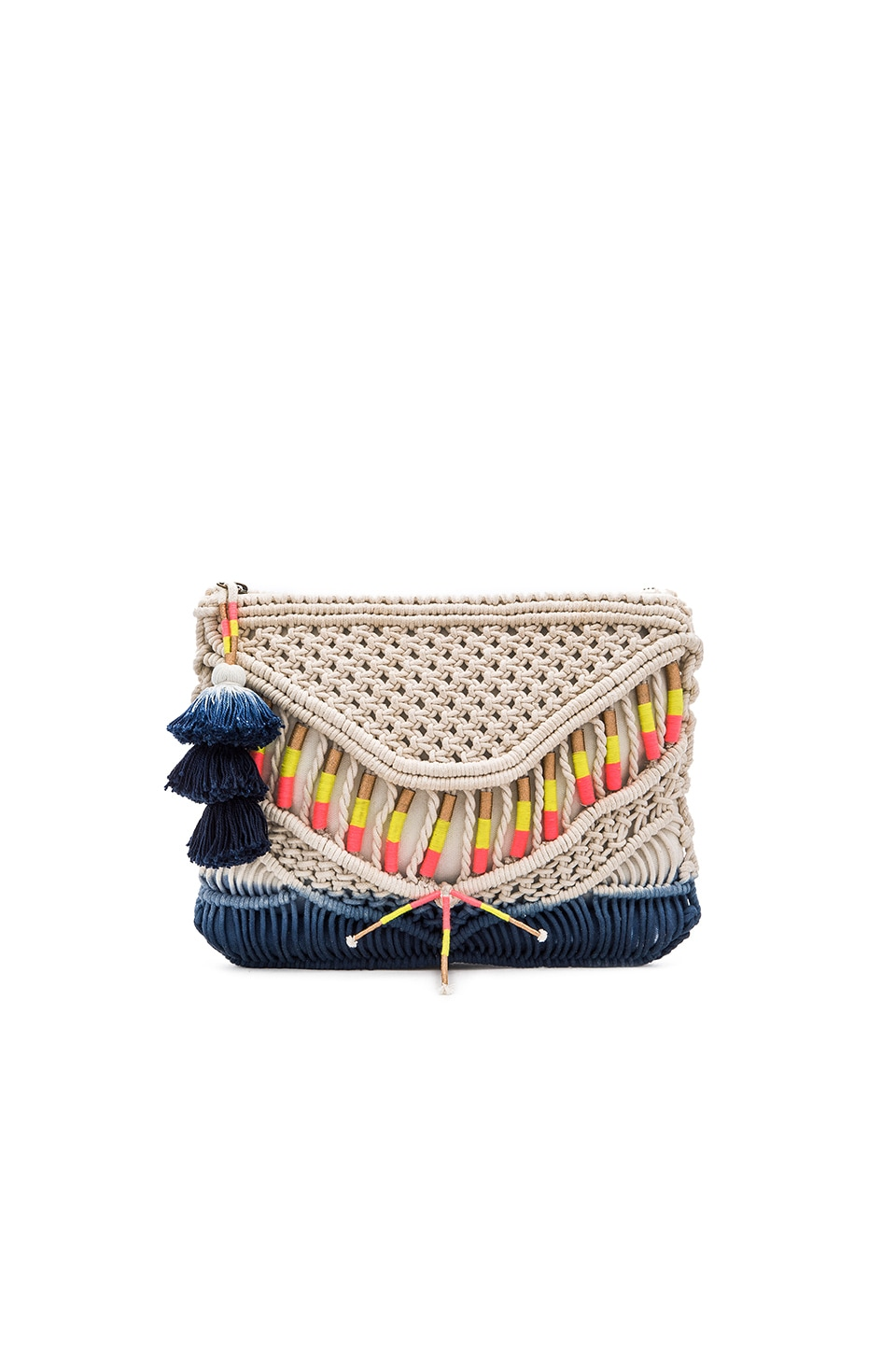 Cleobella Dreamers Clutch in Macrame
