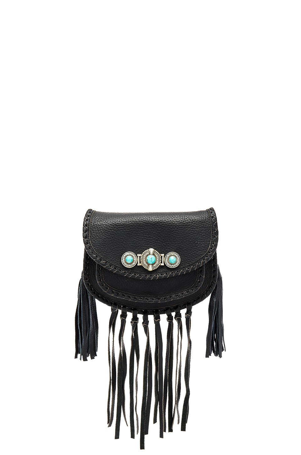 Cleobella Tanna Mini Saddle Bag in Black