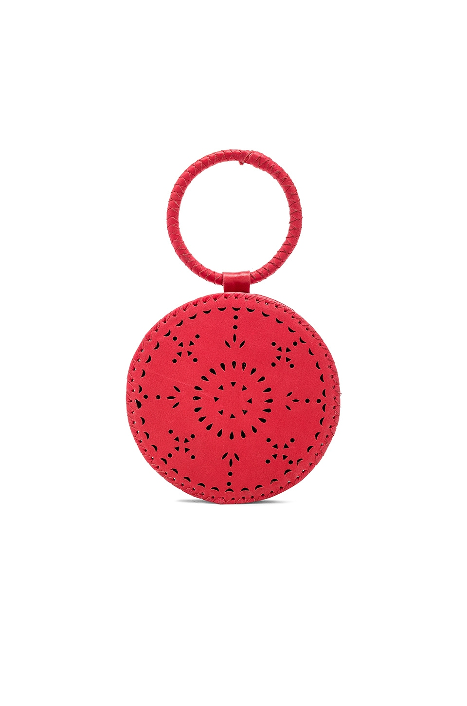 Cleobella Florence Mini Circle Bag in Fire Red