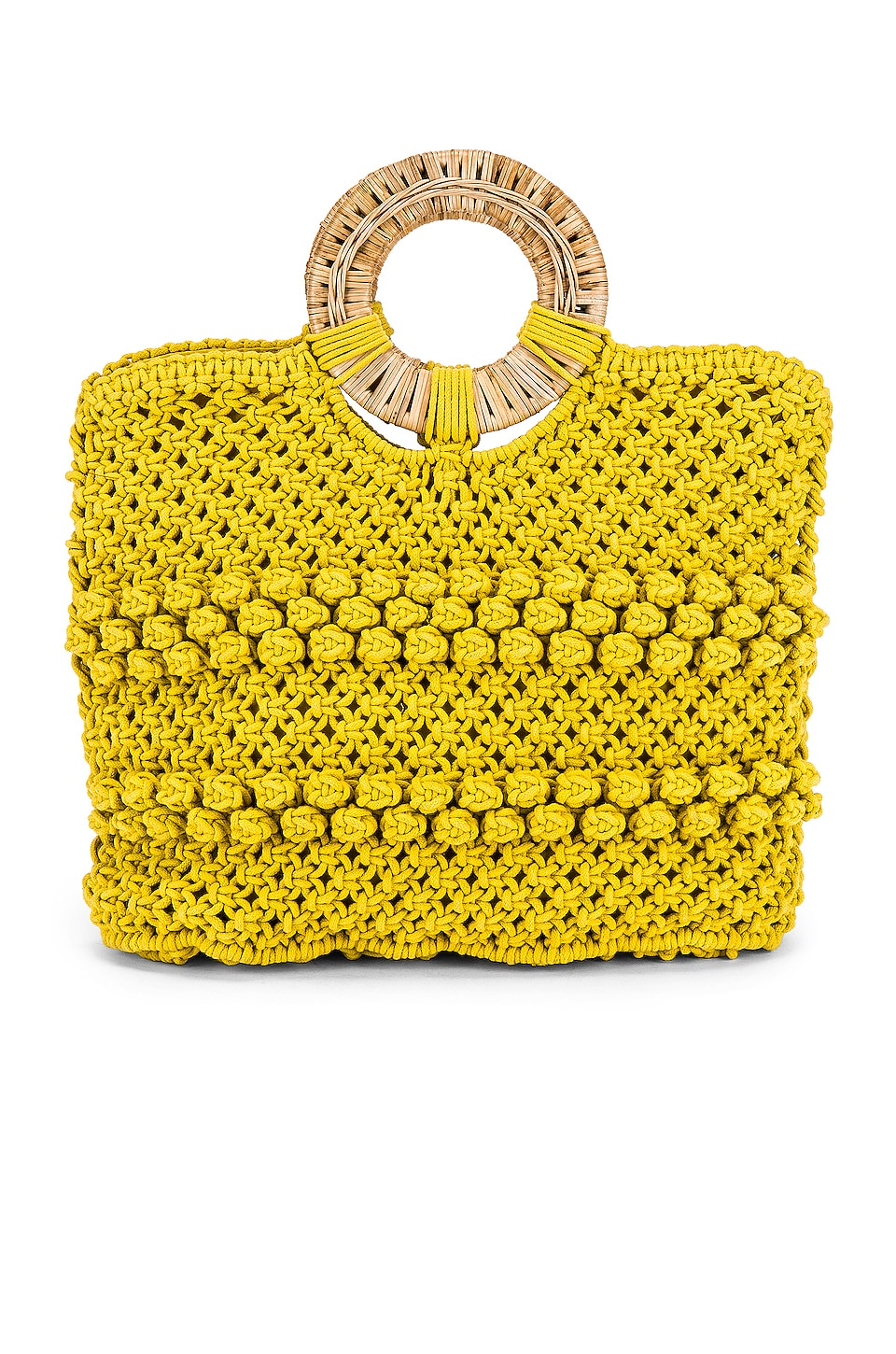 Cleobella Reed Tote in Lemon