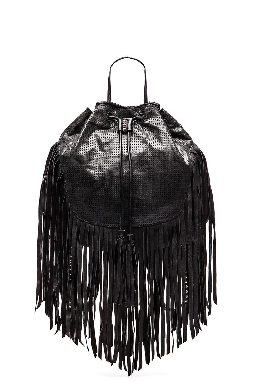 Cleobella Gita Backpack in Perforated Black
