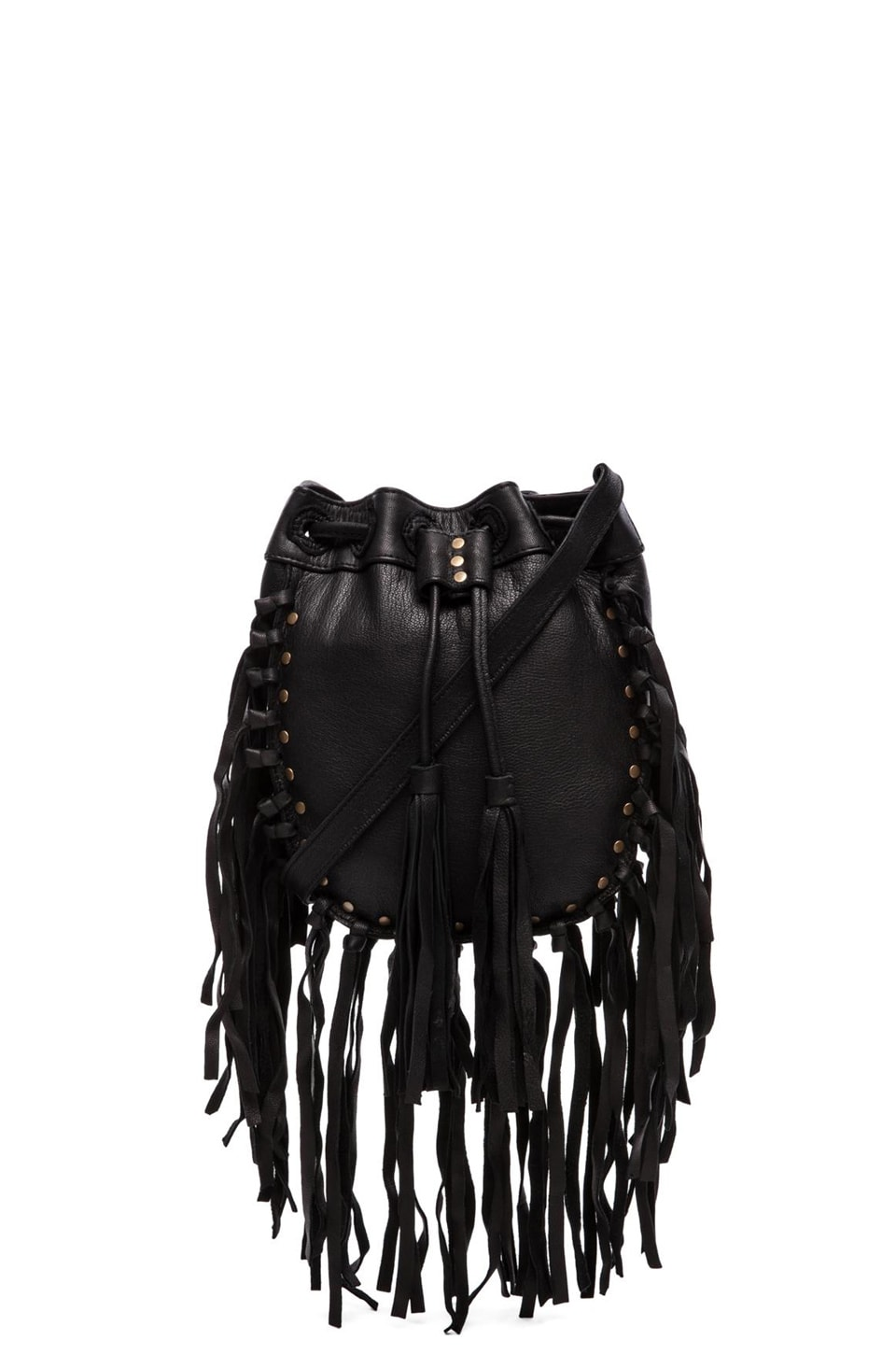 Cleobella Wild Fring Crossbody in Black