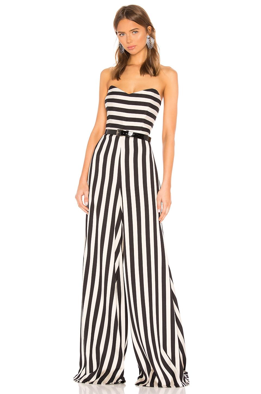 Caroline Constas Forbes Jumpsuit en Black & White