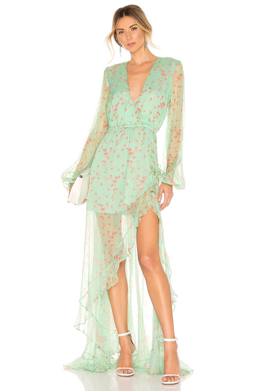 Caroline Constas X REVOLVE Liv Gown in Mint
