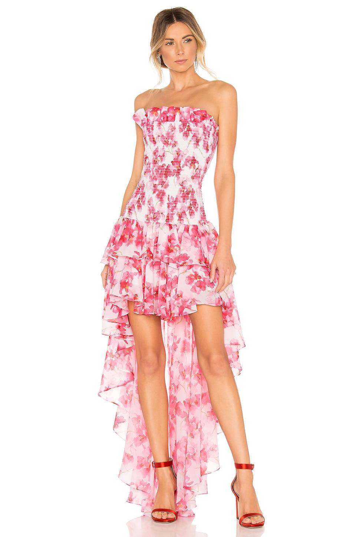 Caroline Constas X REVOLVE Lola Smock Dress in White Multi