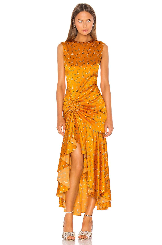 Caroline Constas Lonnie Dress in Tangerine