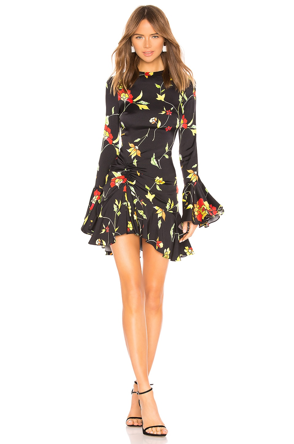 Caroline Constas Monique Mini Dress in Black Multi