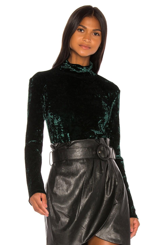 Caroline Constas Delphine Velvet Turtleneck in Emerald