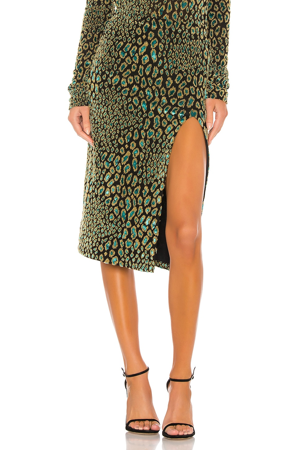 Caroline Constas Pencil Skirt in Teal