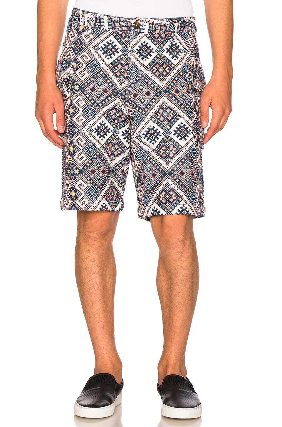 Ethnic Print Shorts by CLOT