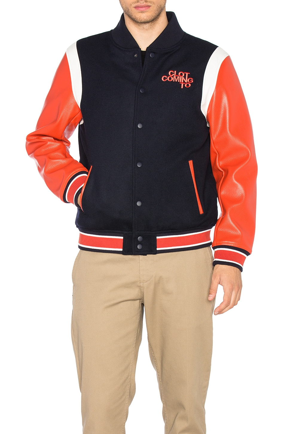 Photo of x REVOLVE Stadium Jacket by CLOT men clothes