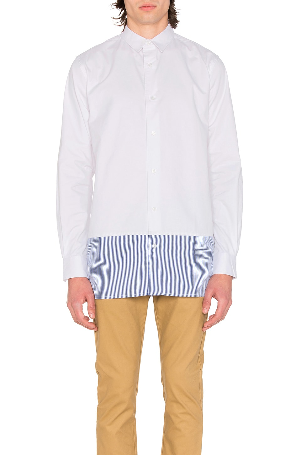 Cropped Button Down by CLOT