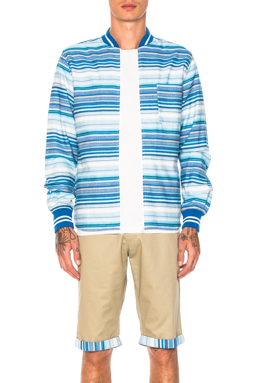 Ribbed Zip Up Shirt by CLOT