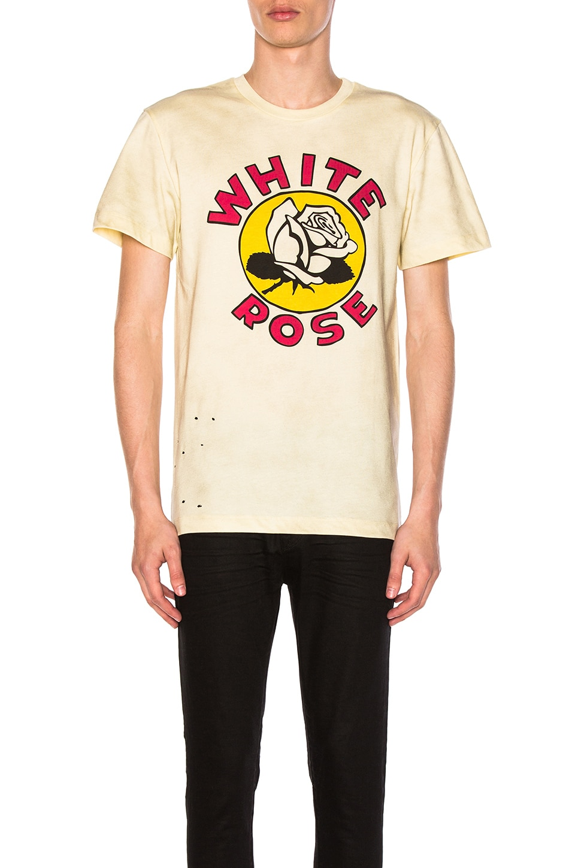 x Zoe Vance White Rose Tee by CLOT