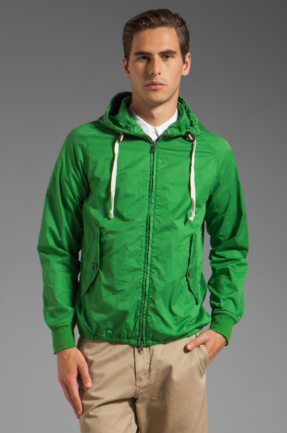 Closed St. Andreas Hooded Jacket in Pure Green