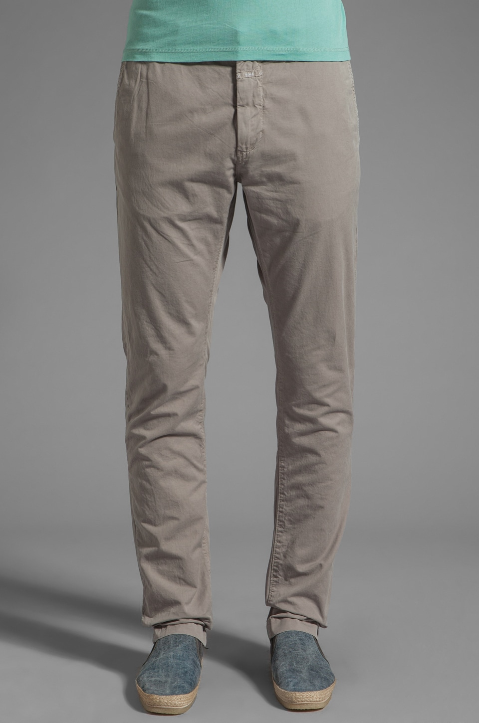 Closed Clifton Slim 2 Ply Pant in Warm Grey