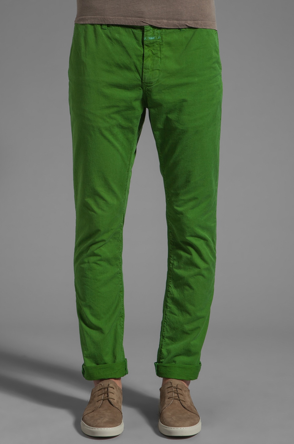Closed Clifton Slim 2 Ply Pant in Pure Green