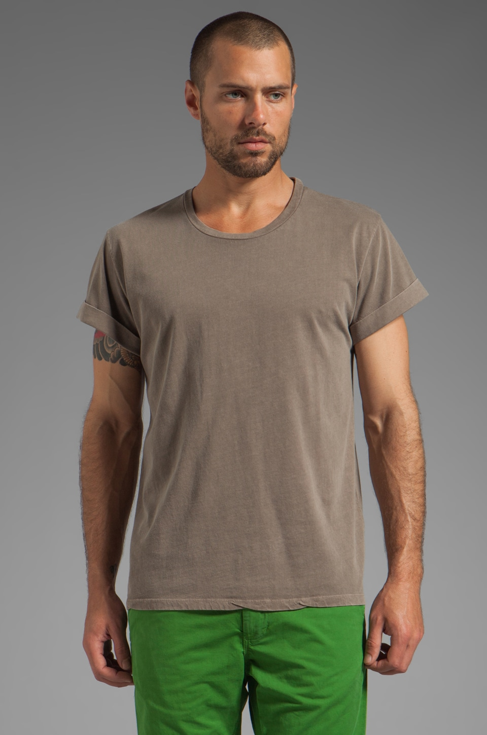 Closed Short Sleeve Jersey Tee in Storm