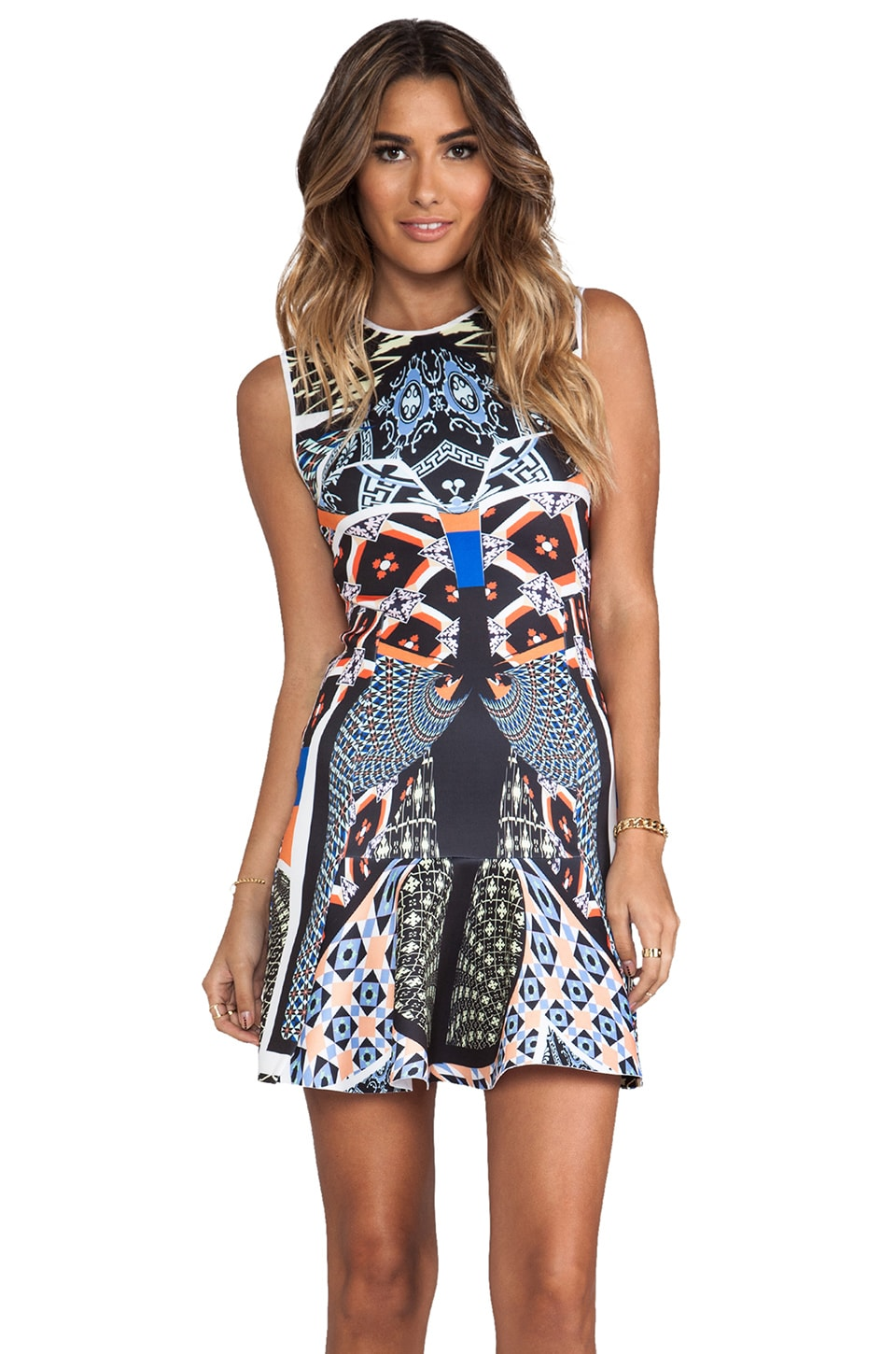 Clover Canyon Cuban Tile Dress in Multi