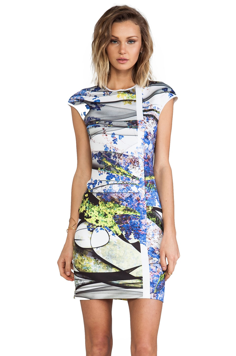 Clover Canyon Space Garden Neoprene Dress in Multi