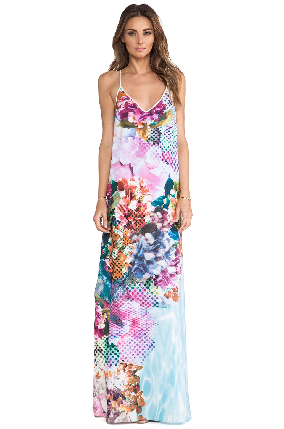 Clover Canyon Pool Flower Maxi Dress in Multi