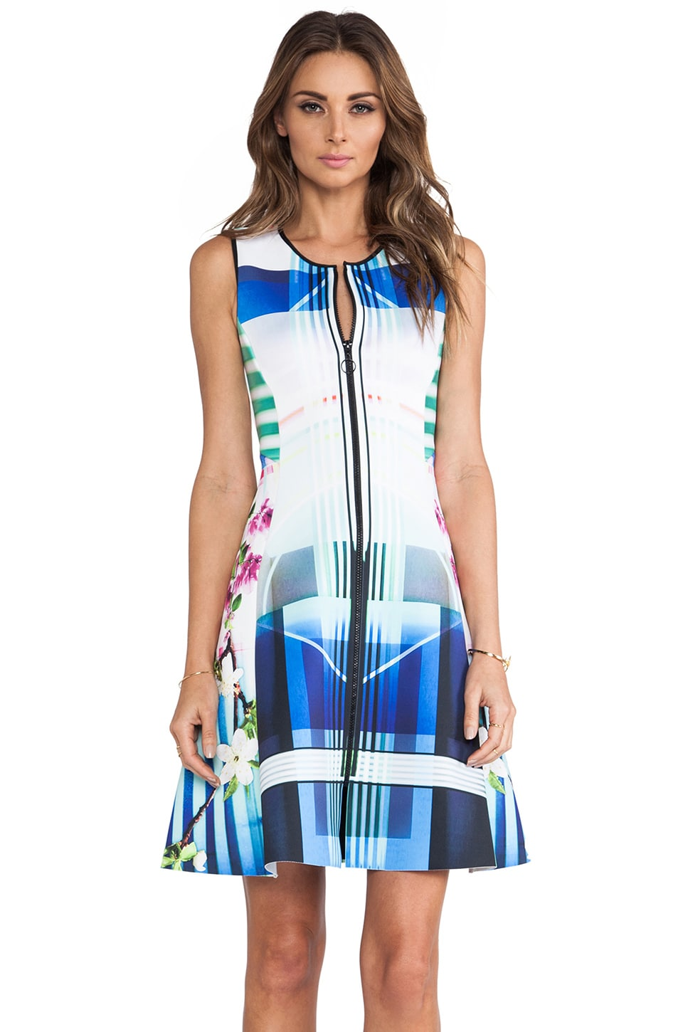 Clover Canyon Hollywood Bowl Neoprene Dress in Multi