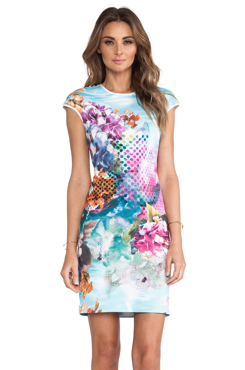 Clover Canyon Pool Flower Neoprene Dress in Multi