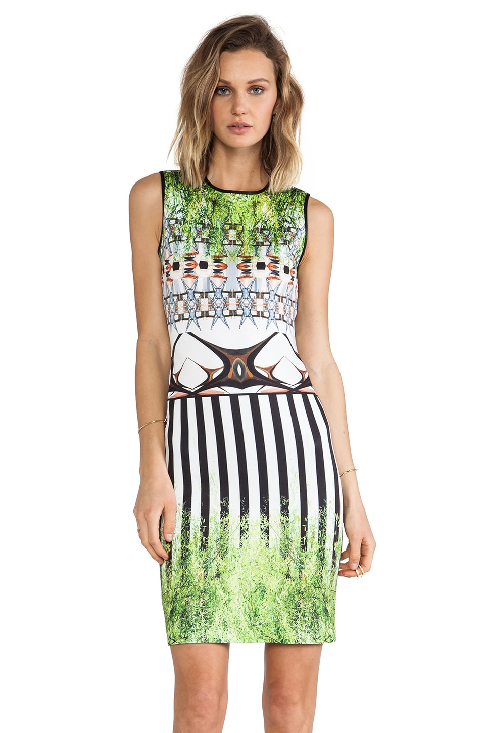 Clover Canyon Huntington Gardens Neoprene Dress in Multi