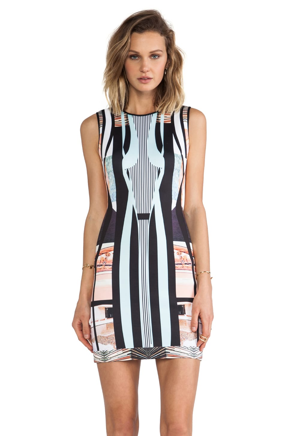 Clover Canyon Desert Home Neoprene Dress in Multi