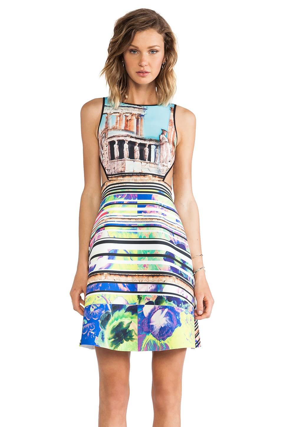 Clover Canyon Acropolis Garden Neoprene Dress in Multi
