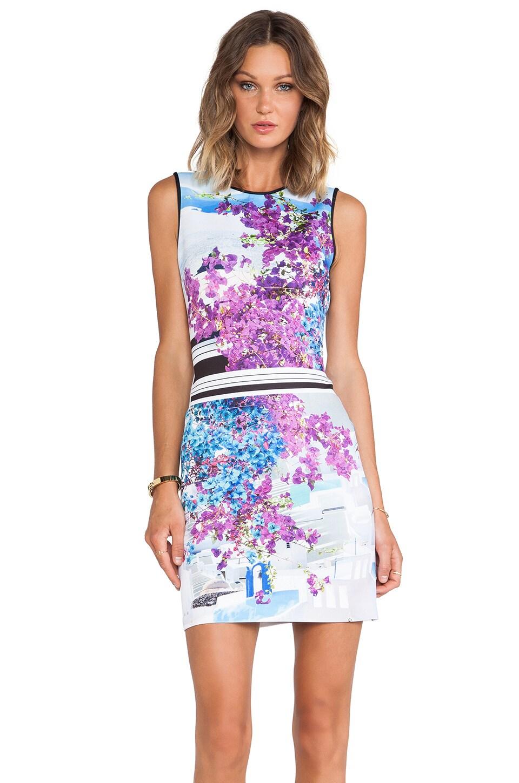 Clover Canyon Santorini Stripe Neoprene Dress in Multi