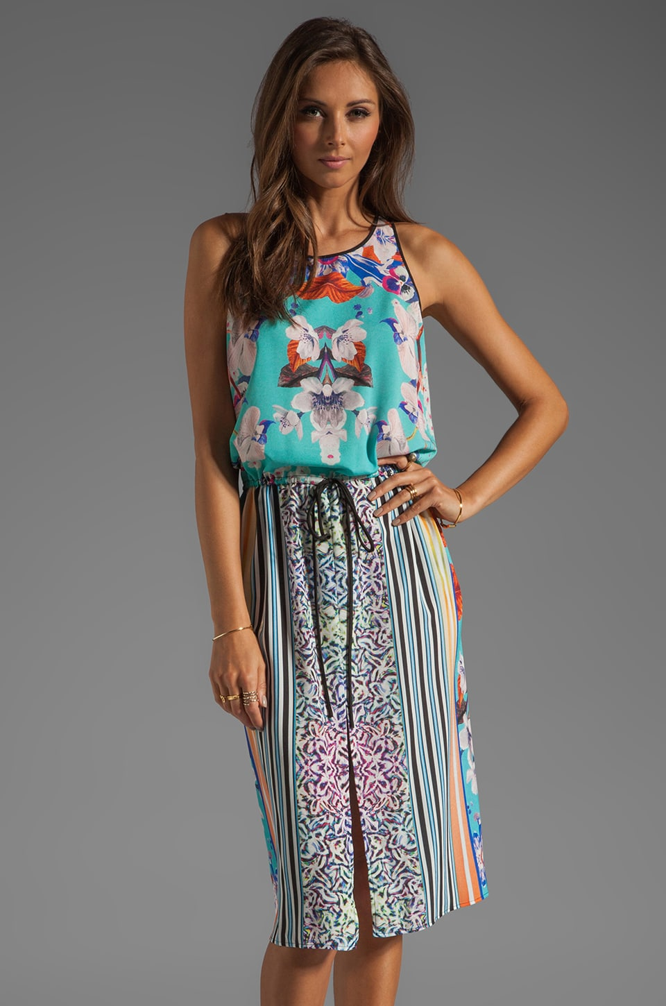 Clover Canyon Prism Orchid Dress in Turquoise