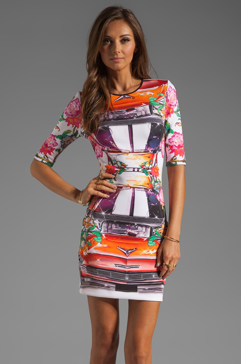 Clover Canyon Hydraulics Neoprene Dress in Multi