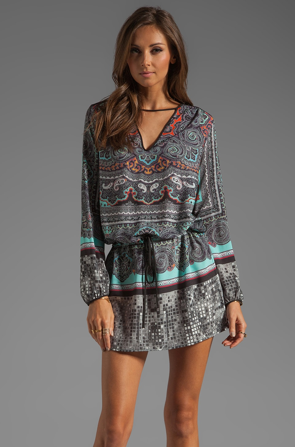 Clover Canyon Paisley Disco Dress in Multi