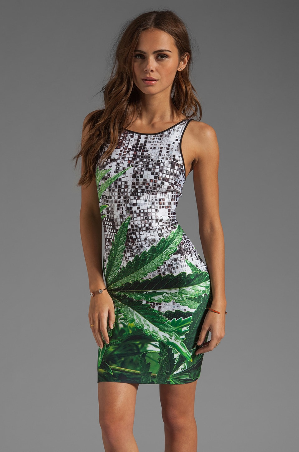 Clover Canyon EXCLUSIVE How High Neoprene Dress in Multi