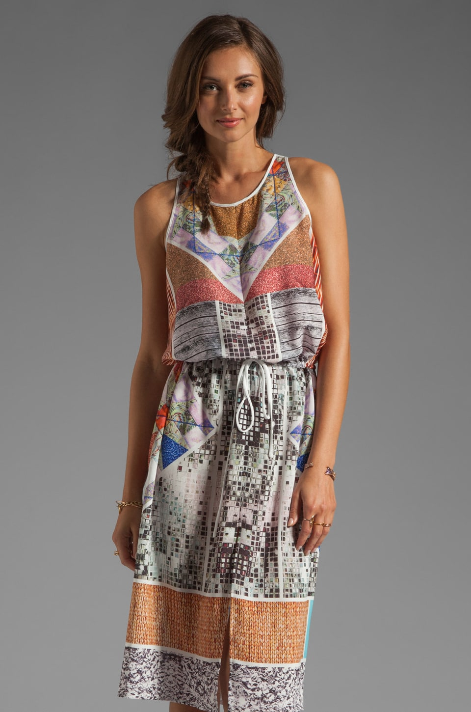 Clover Canyon Roadside Quilt Dress in Multi