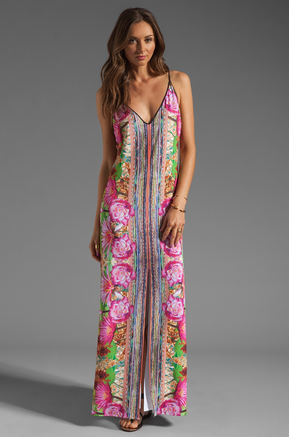 Clover Canyon Fools Gold Liquid Jersey Dress in Multi