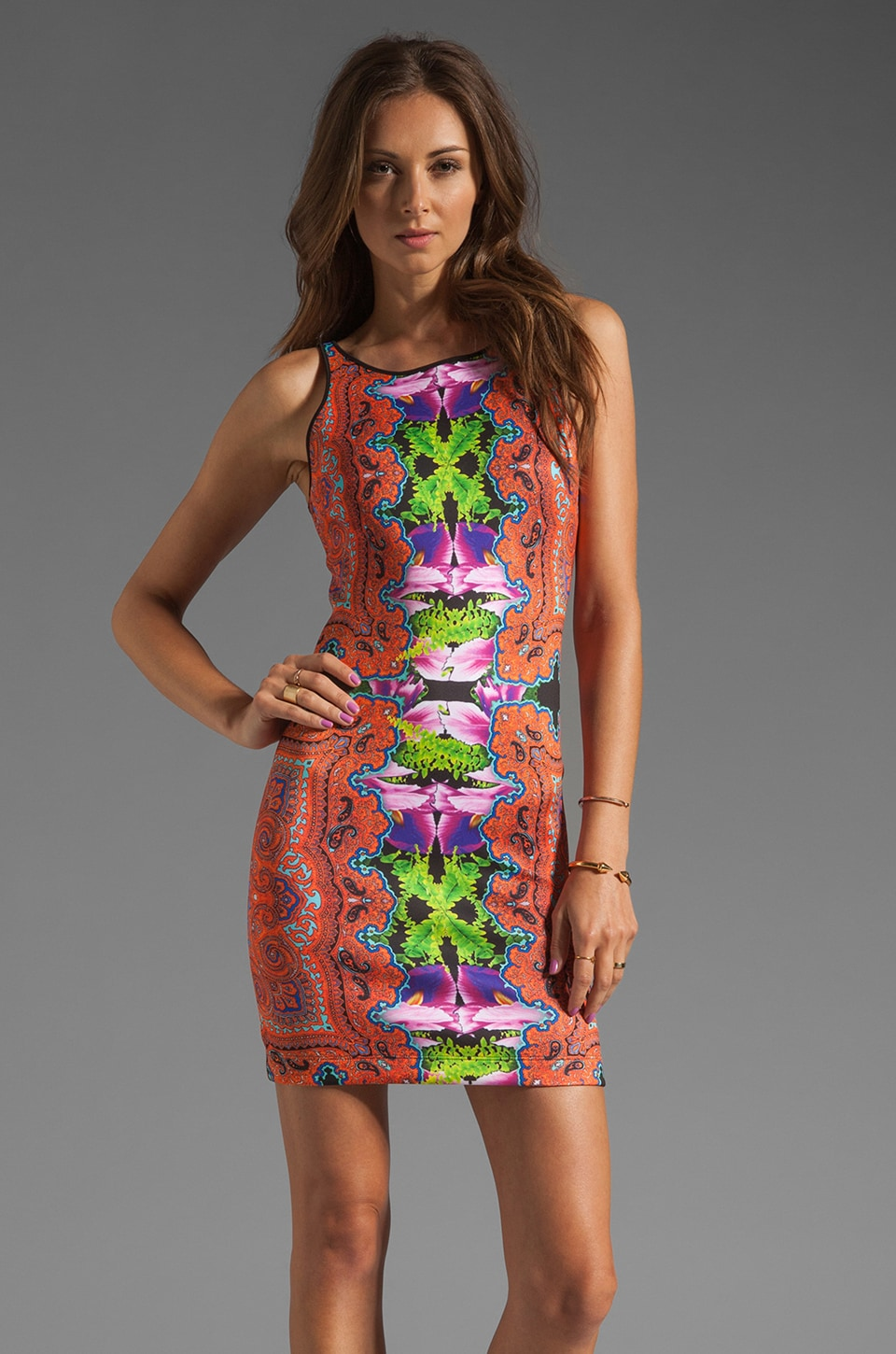 Clover Canyon Orchid Trip Neoprene Dress in Multi