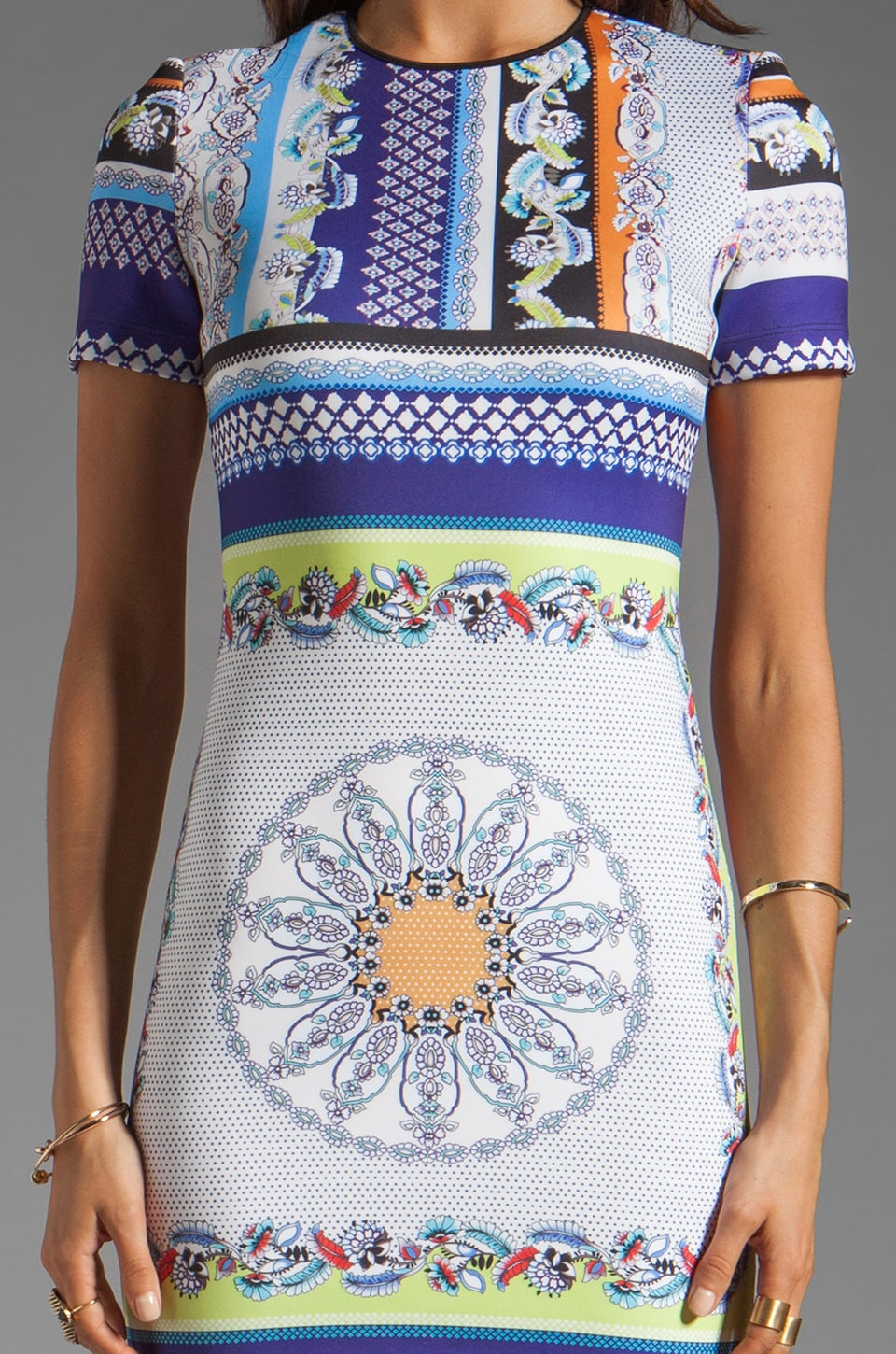 Clover Canyon Gandhi Scarf Neoprene Dress in Multi