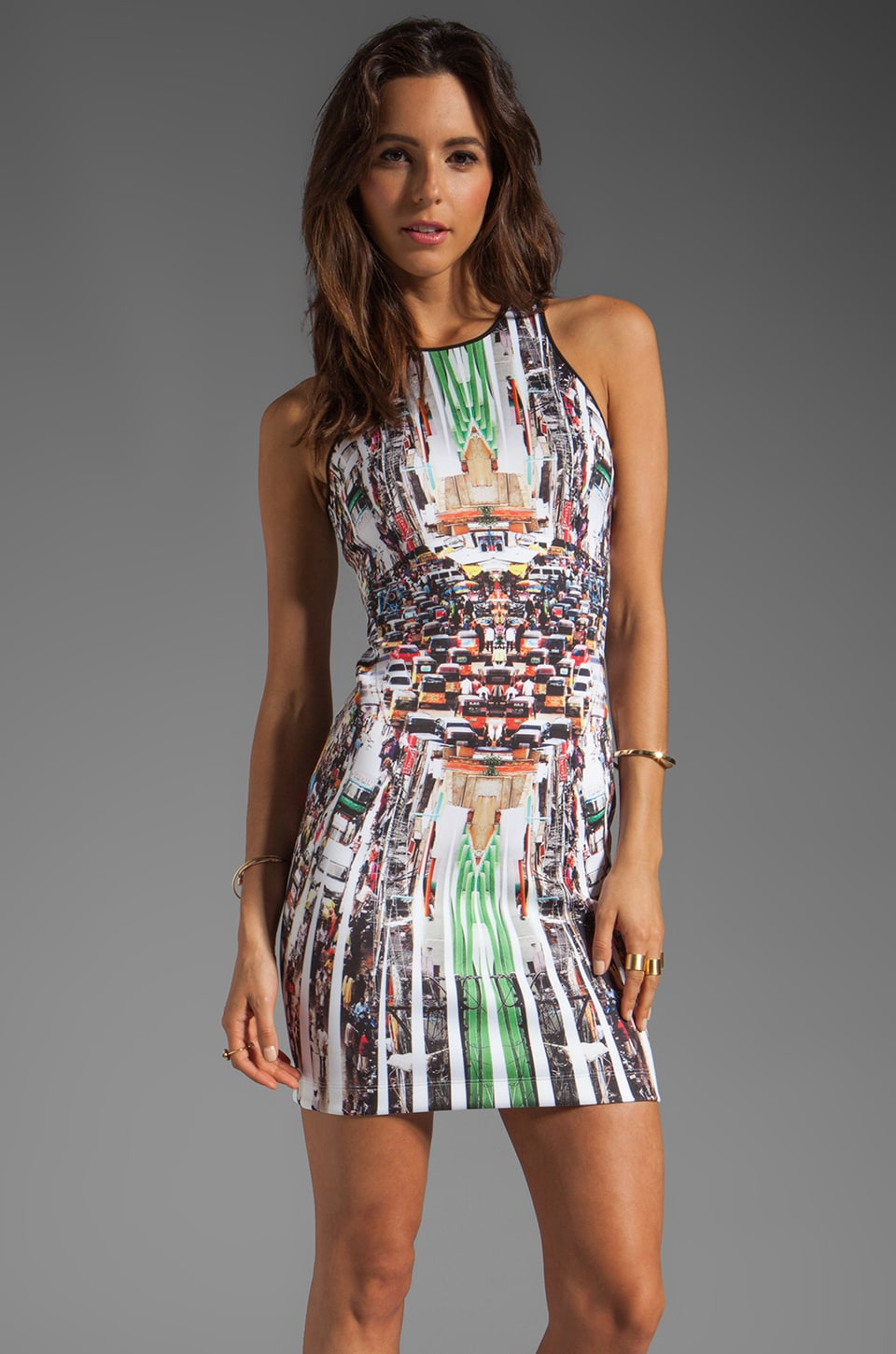 Clover Canyon Stop Traffic Neoprene Dress in Multi