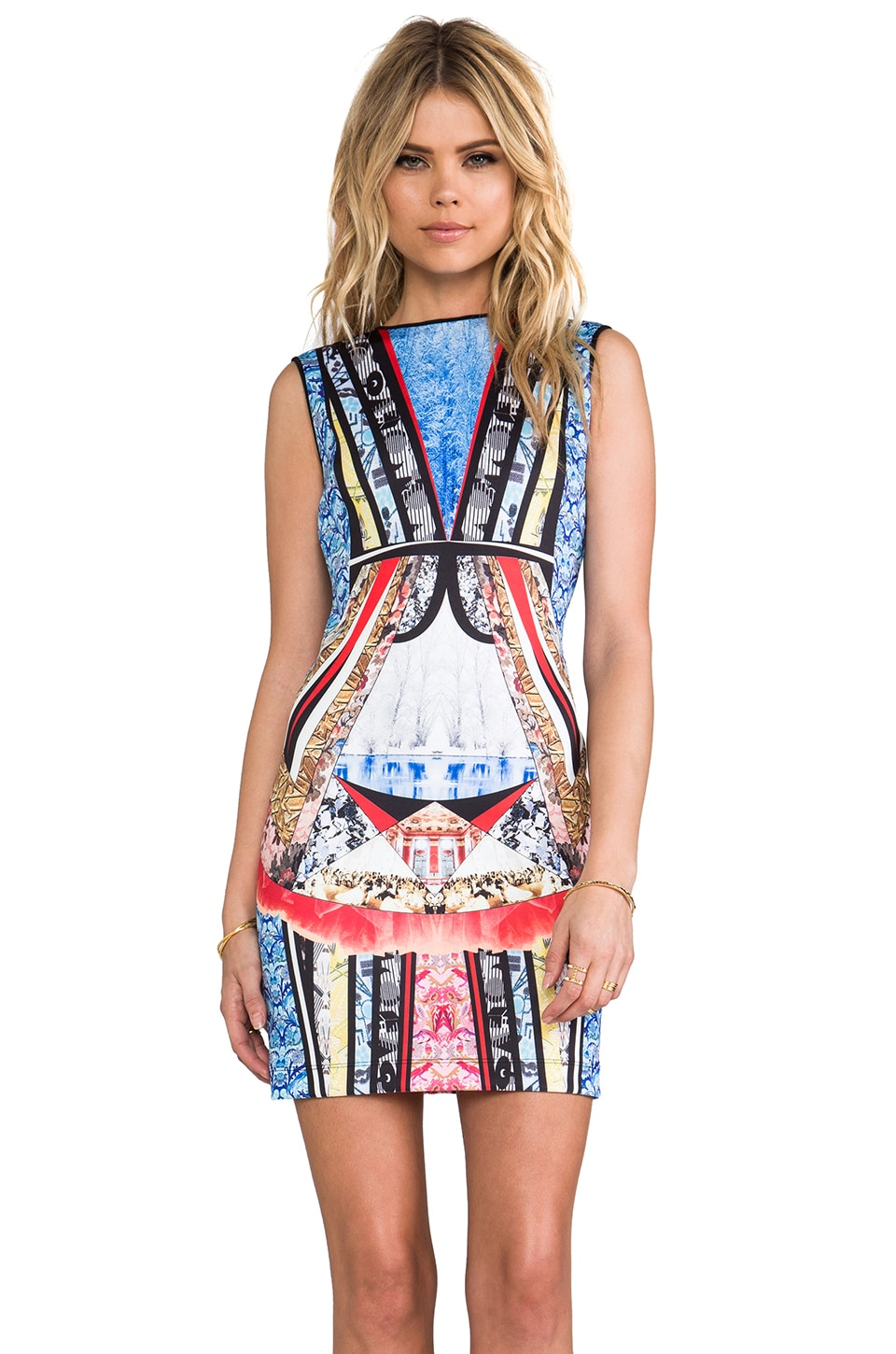 Clover Canyon Babushka Neoprene Dress in Multi