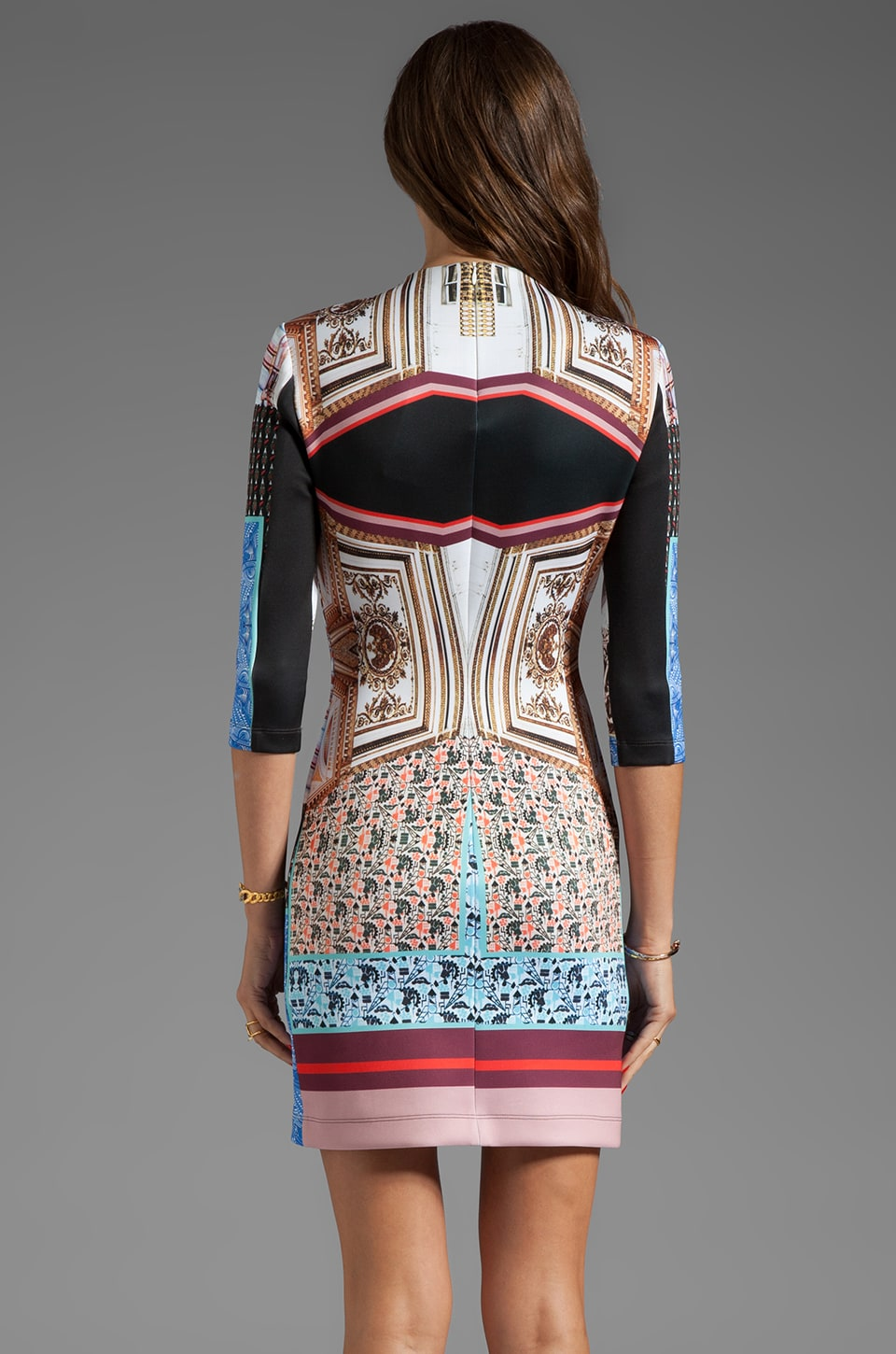 Clover Canyon Royal Palace Interior Neoprene Dress in Multi