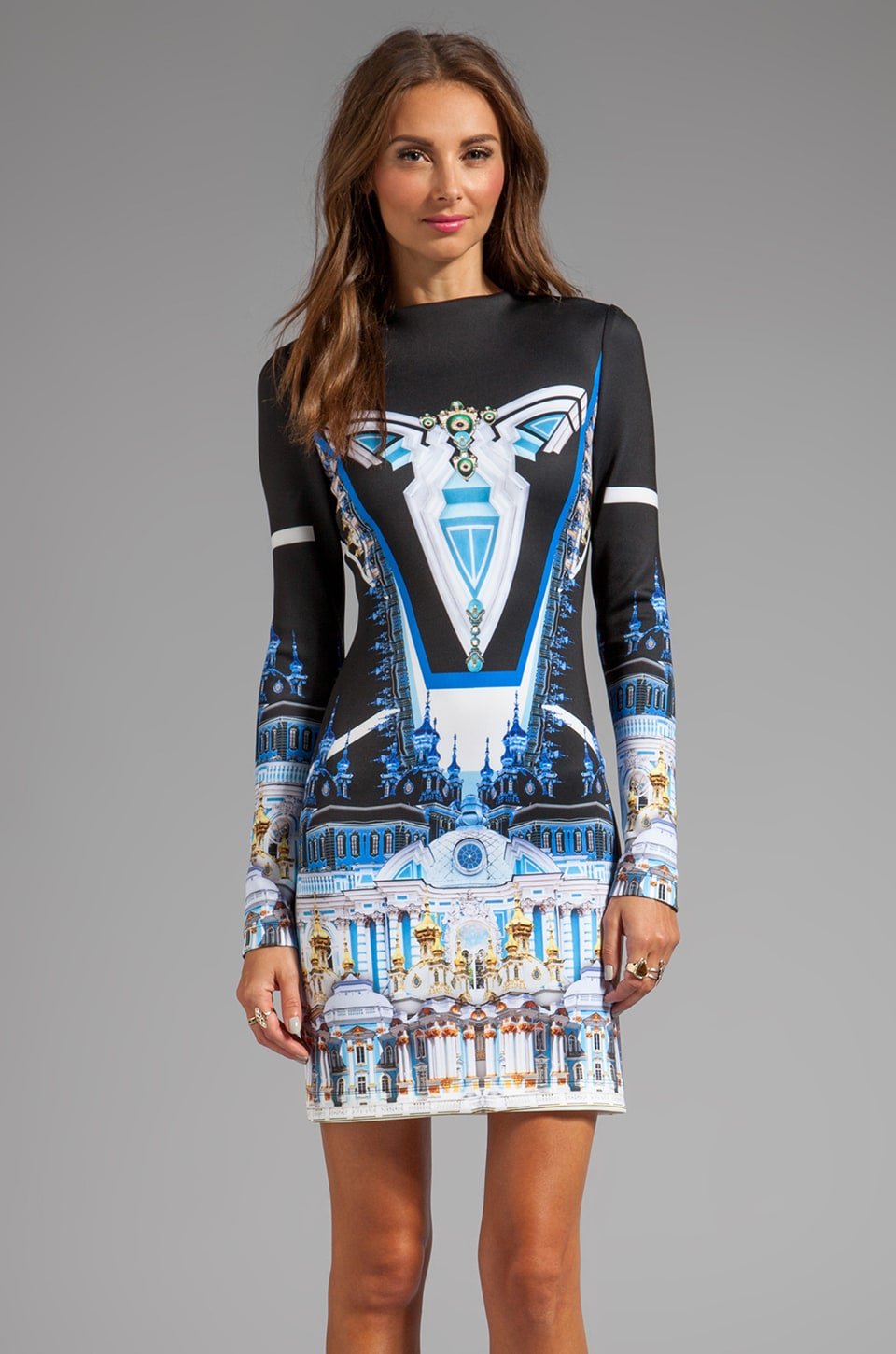 Clover Canyon Crystal Palace Neoprene Dress in Multi
