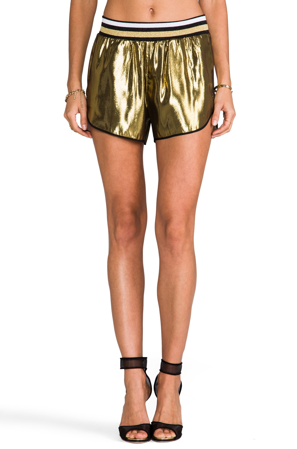 Clover Canyon Metallic Shorts in Gold
