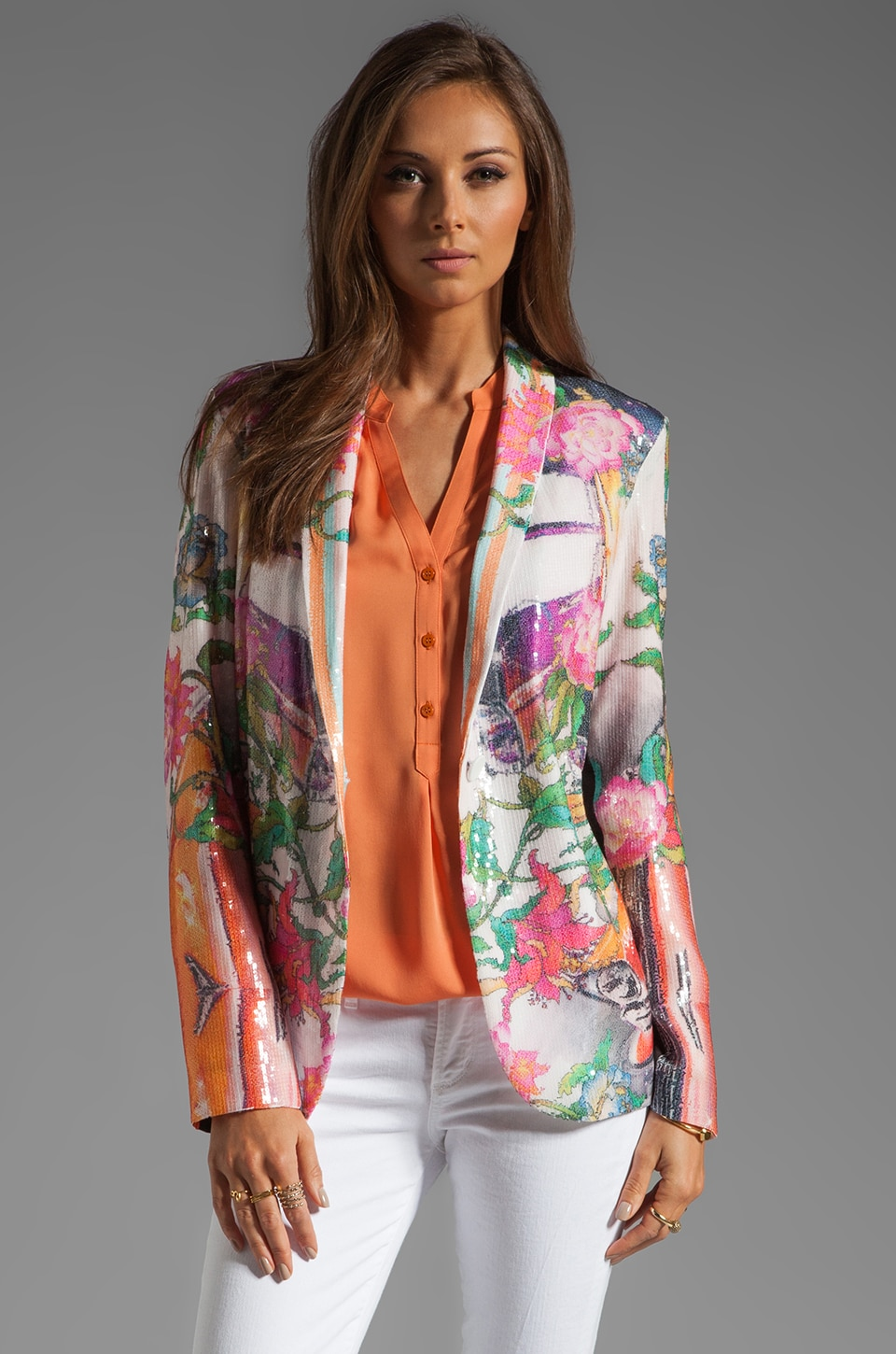 Clover Canyon Hydraulics Sequins Jacket in Multi