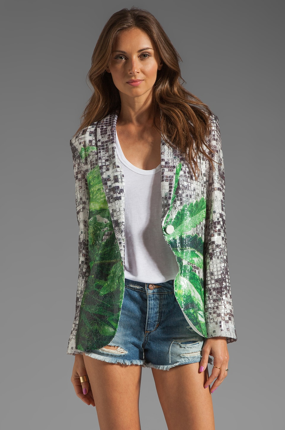 Clover Canyon How High Sequins Blazer in Multi